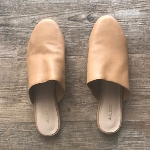 ALDO NEW leather slip on mules